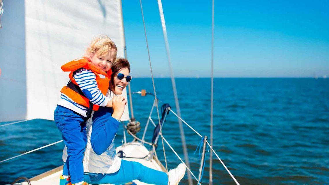 На яхте фотосет с детьми